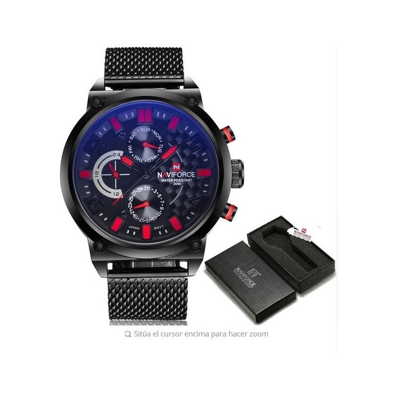 Naviforce Original Lujo De Pulso Reloj Top Brand D9IHY2WE